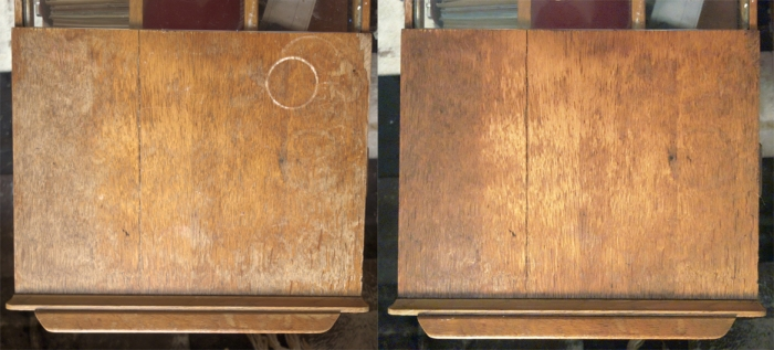 coffee table before after