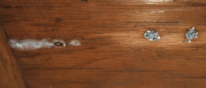 desk dried glue small
