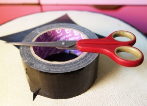stool scissors tape small