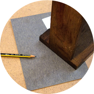 laminate drawing round small