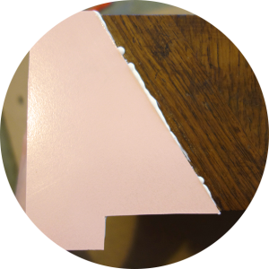 laminate sticking small